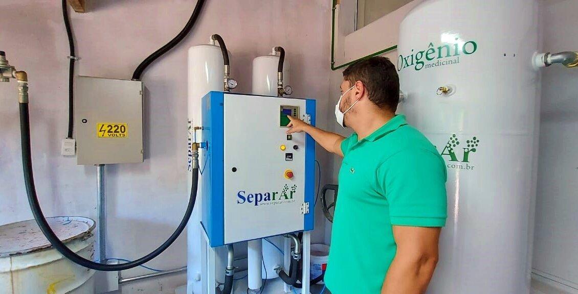 Hospital de Cantagalo coloca em funcionamento usina de oxigênio