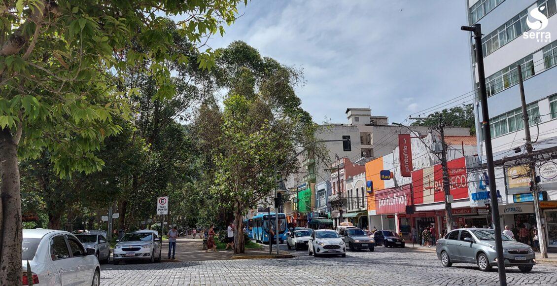 Movimentação no Centro de Nova Friburgo - Região Serrana do Rio de Janeiro