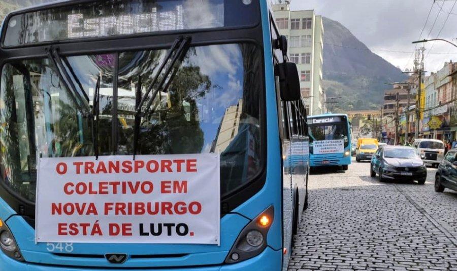 Rodoviários da Faol entram em greve e Friburgo fica sem ônibus nas ruas