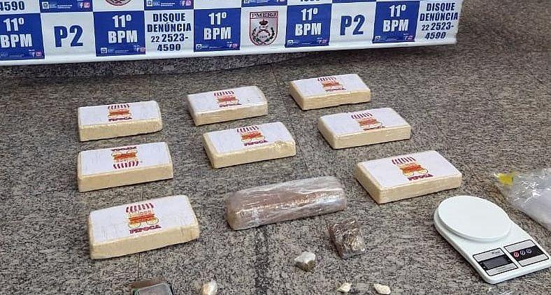 Friburgo: Polícia Militar apreende nove quilos de drogas na Chácara do Paraíso