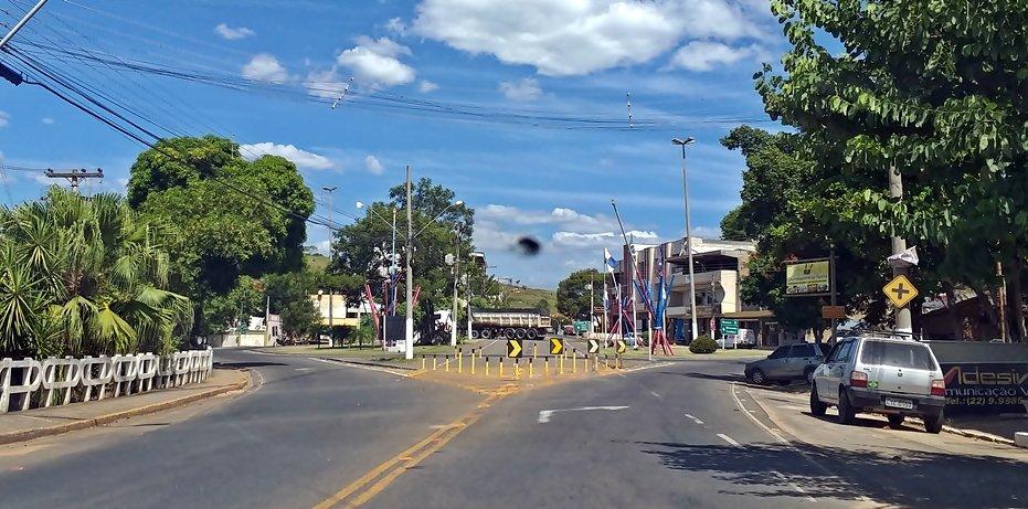 Entrada da cidade de Itaocara RJ
