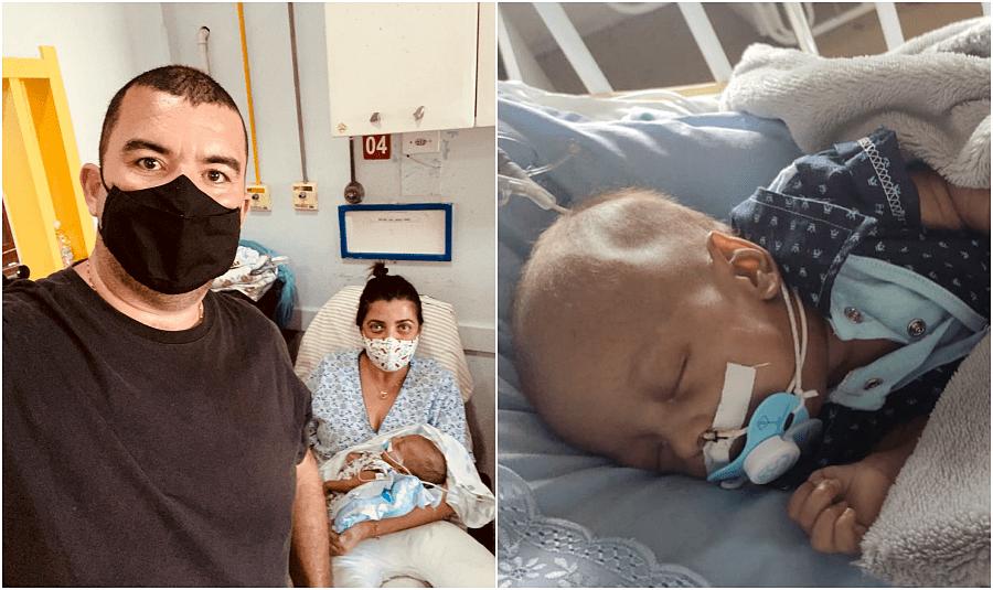 Bebê agredido pelo pai em São Fidélis recebe alta da UTI após quase dois meses