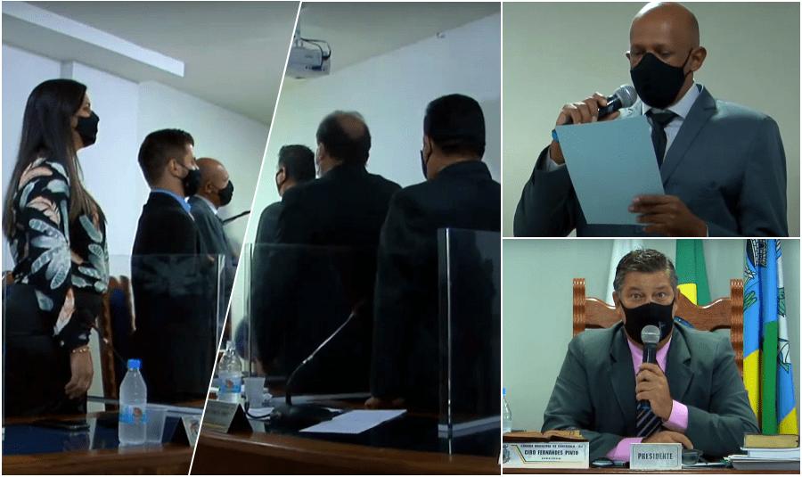 Após morte de vereador, Câmara de Cantagalo elege presidente e suplente toma posse