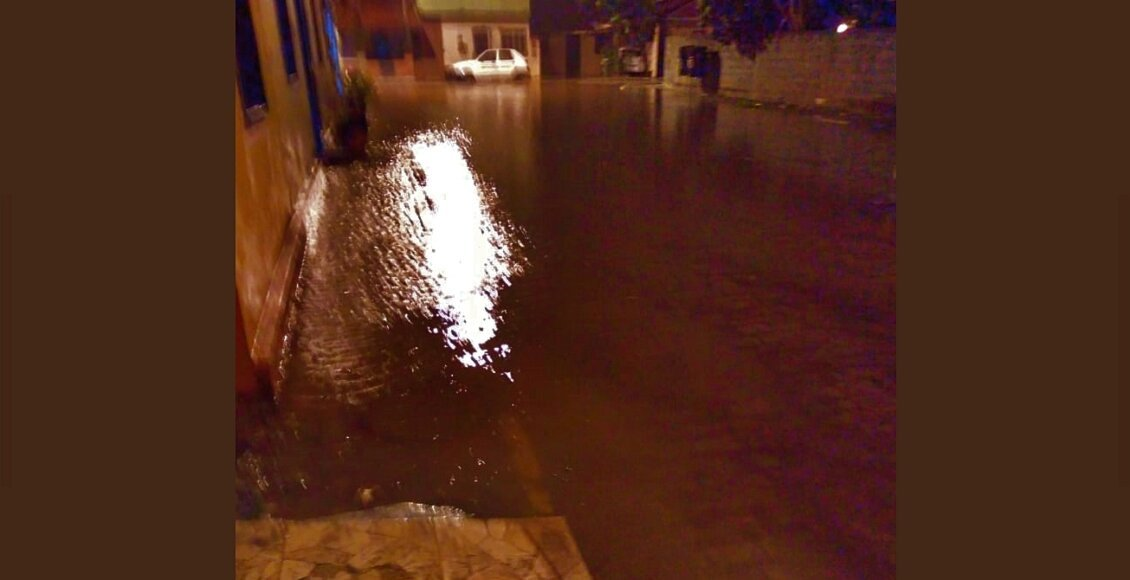 Chuva forte com granizo atinge distrito de Cantagalo; Climatempo mantém alerta