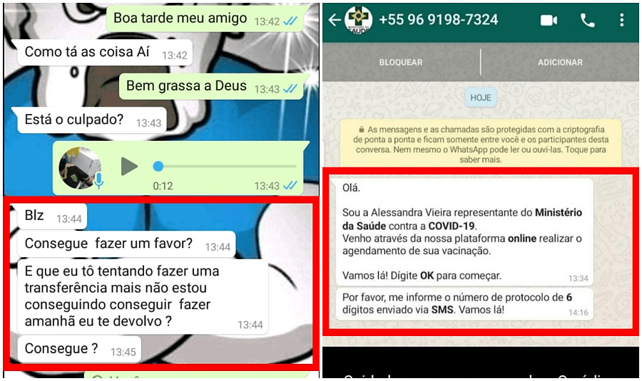 Atenção! Novo golpe duplica WhatsApp e pede dinheiro para contatos