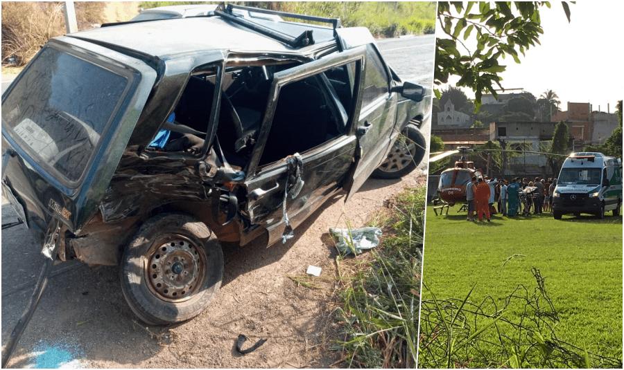 Em Santo Antônio de Pádua, acidente deixou sete feridos na RJ-186