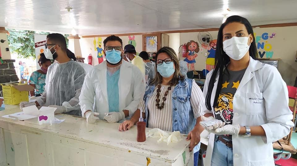 Prefeitura realiza testagem rápida em massa para Covid-19 em São Fidélis