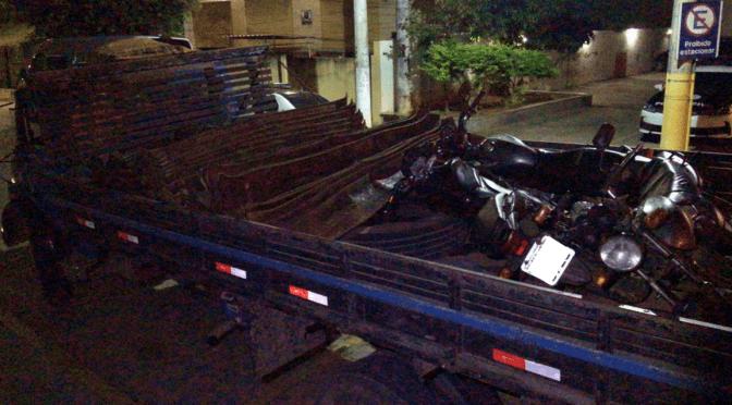 Polícia encontra trilhos que haviam sido furtados da linha férrea em Pádua