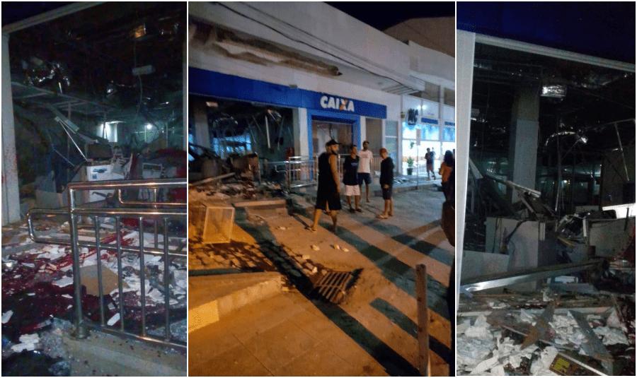 Vídeos: Grupo fortemente armado explode agência da Caixa em Pirapetinga