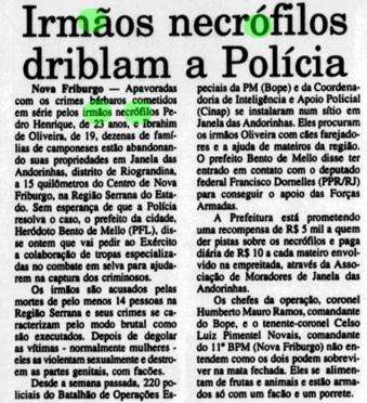 O Fluminense, 30 novembro de 1995. Acervo Biblioteca Nacional.