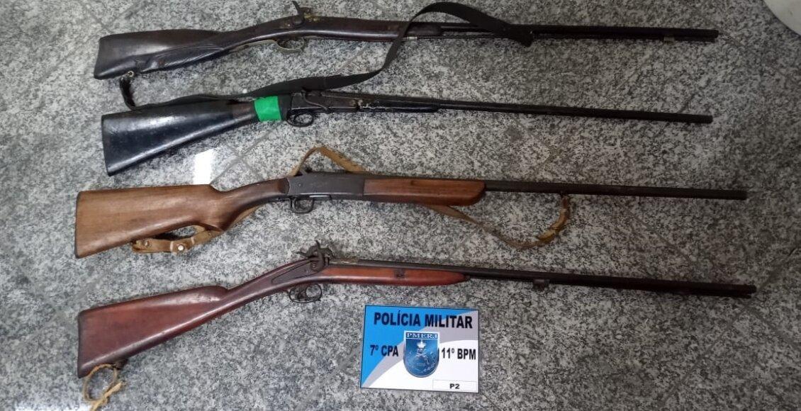 Polícia Militar apreende armas na casa de idoso em Bom Jardim