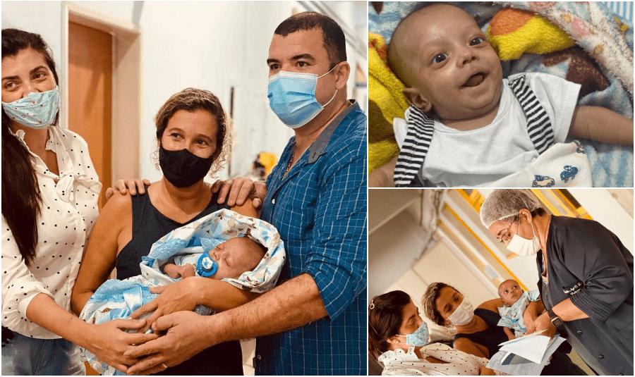 Bebê que foi espancado pelo próprio pai em São Fidélis tem alta do hospital