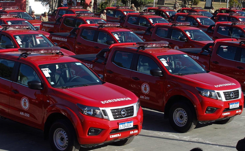 Governo do Rio entrega 80 novas viaturas para o Corpo de Bombeiros