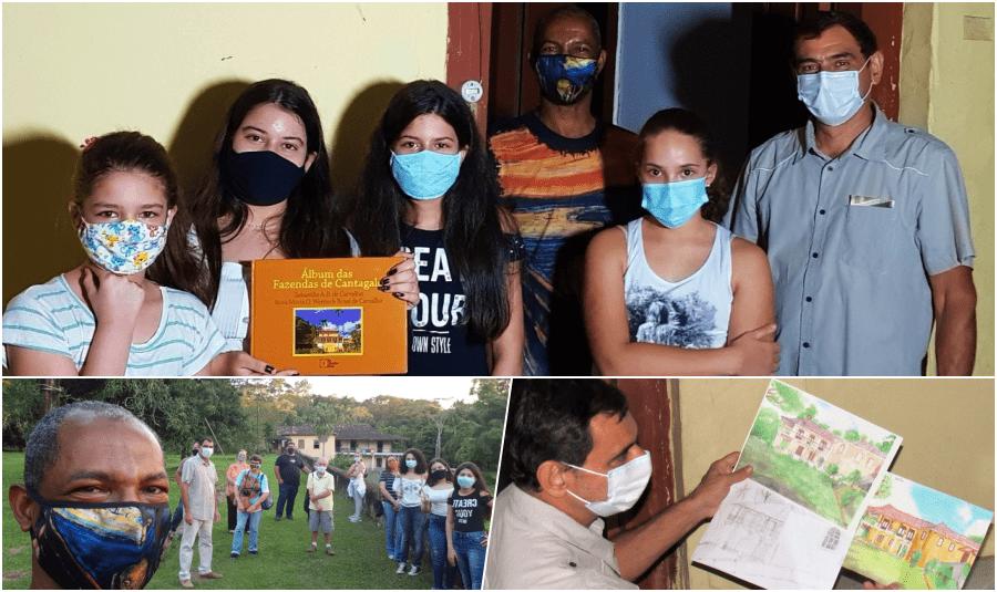 Dono da Fazenda Sant'Ana recebe alunos de Cantagalo em passeio cultural
