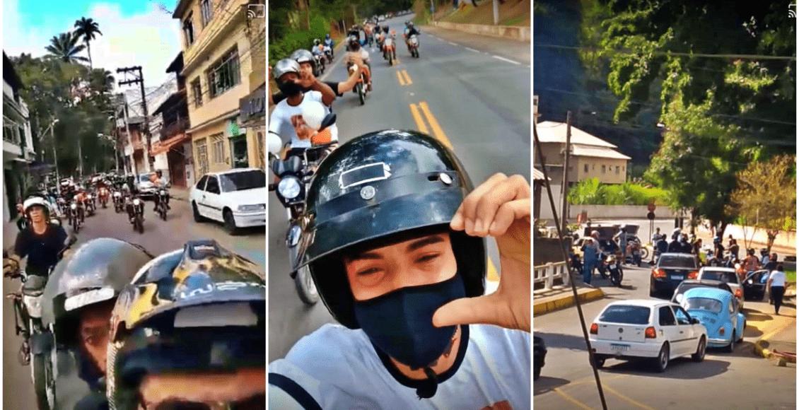 Amigos prestam homenagem a motoboy que morreu em Cantagalo