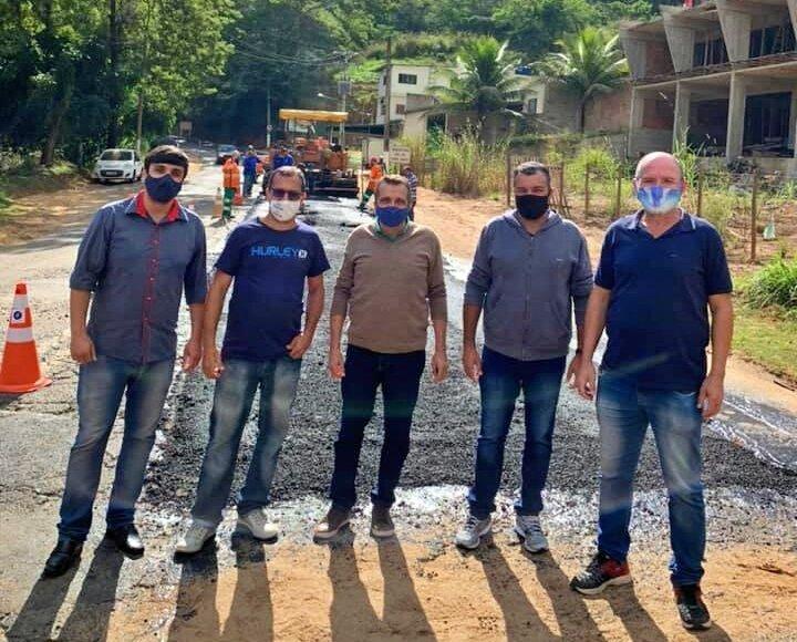 Estado inicia obras de recapeamento da RJ-144 que liga Carmo a Além Paraíba