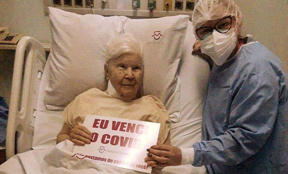 Aos 91 anos, mãe de ex-vice-prefeita de Cordeiro se recupera da Covid