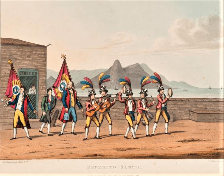 Henry Chamberlain Rio de Janeiro 1822. Acervo Brasiliana Itau.