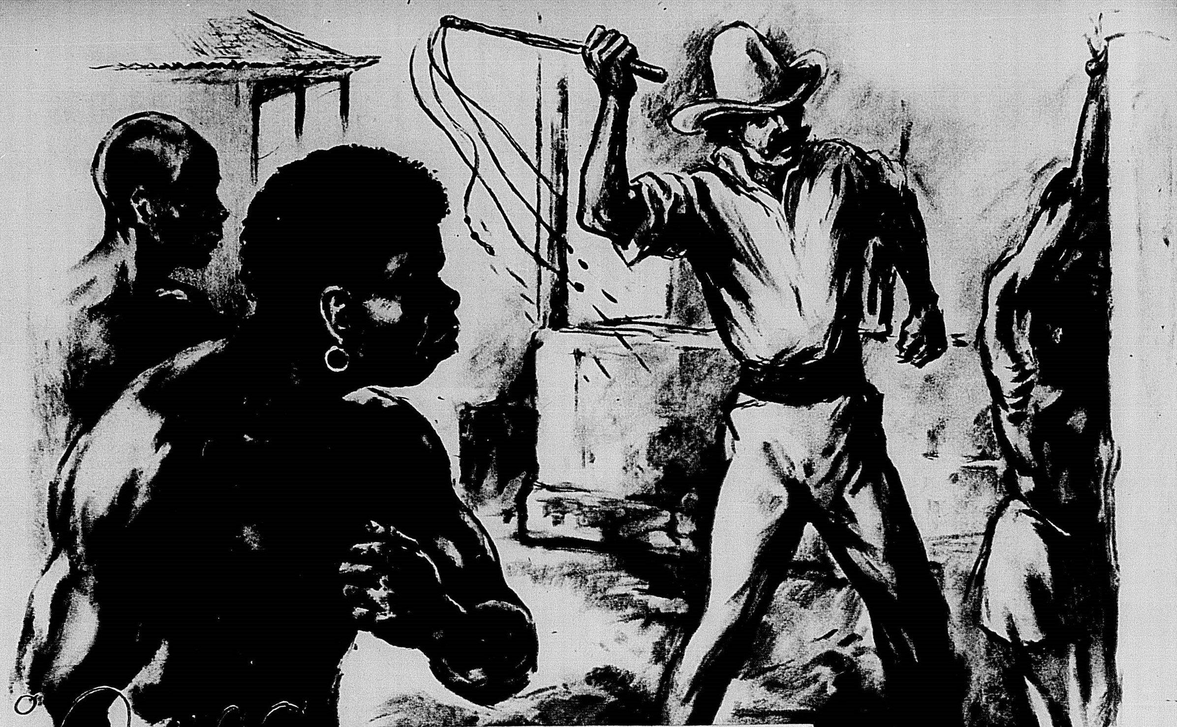 Ilustração de um conto sobre Carukango. Acervo Biblioteca Nacional