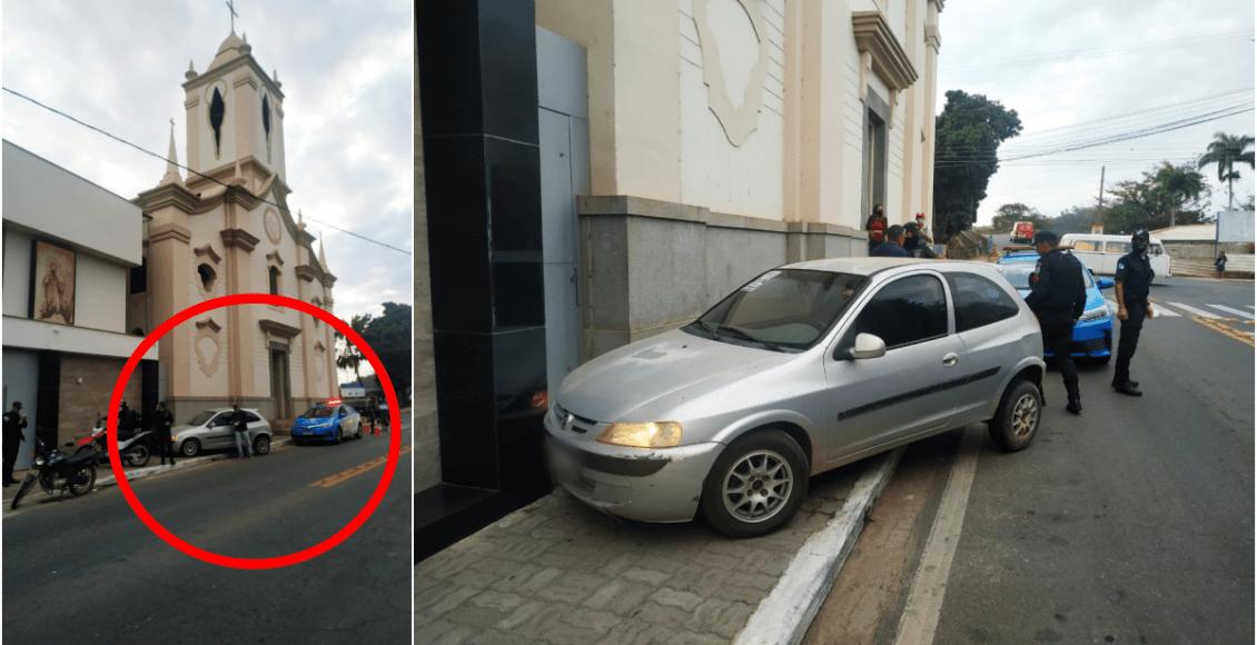 Itaocara: Condutora alcoolizada colide contra Paróquia São José de Leonissa