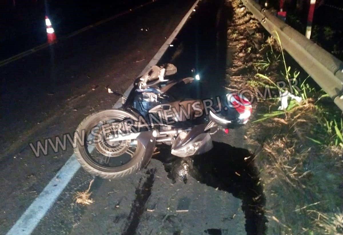 Casal morre em acidente de moto na RJ-116, entre Itaocara e Aperibé
