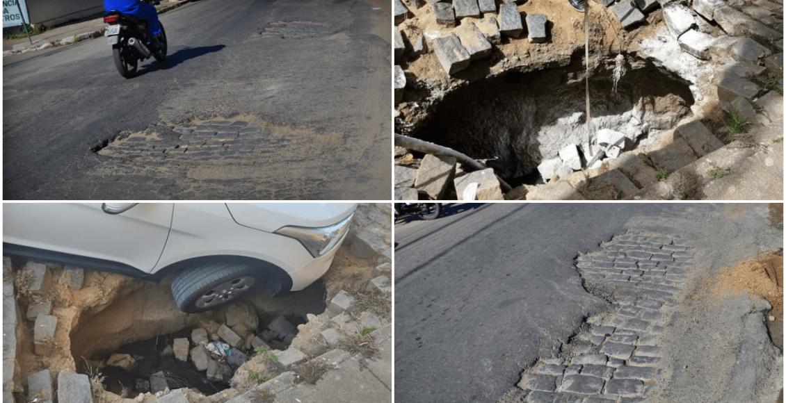 Moradores de São Fidélis não aguentam mais os buracos nas ruas da cidade