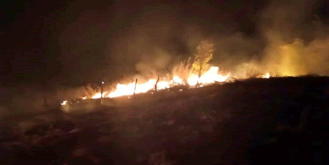 incêndio em vegetação em Piraí, em São Fidélis