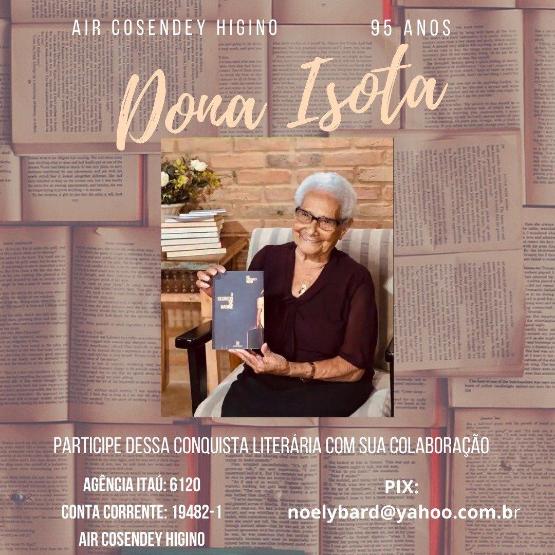 Vaquinha online para escritora cantagalense Dona Isota