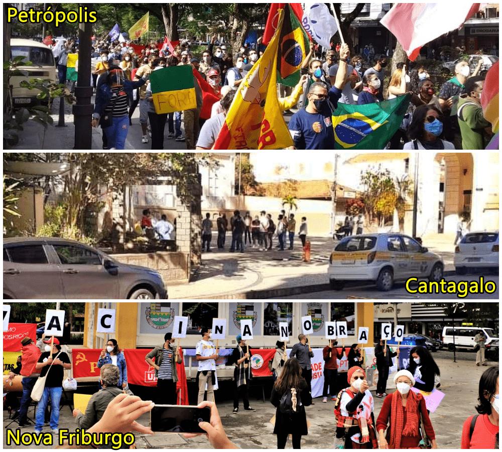 Petrópolis, Friburgo, Cantagalo e São Fidélis registram manifestações contra o presidente Jair Bolsonaro