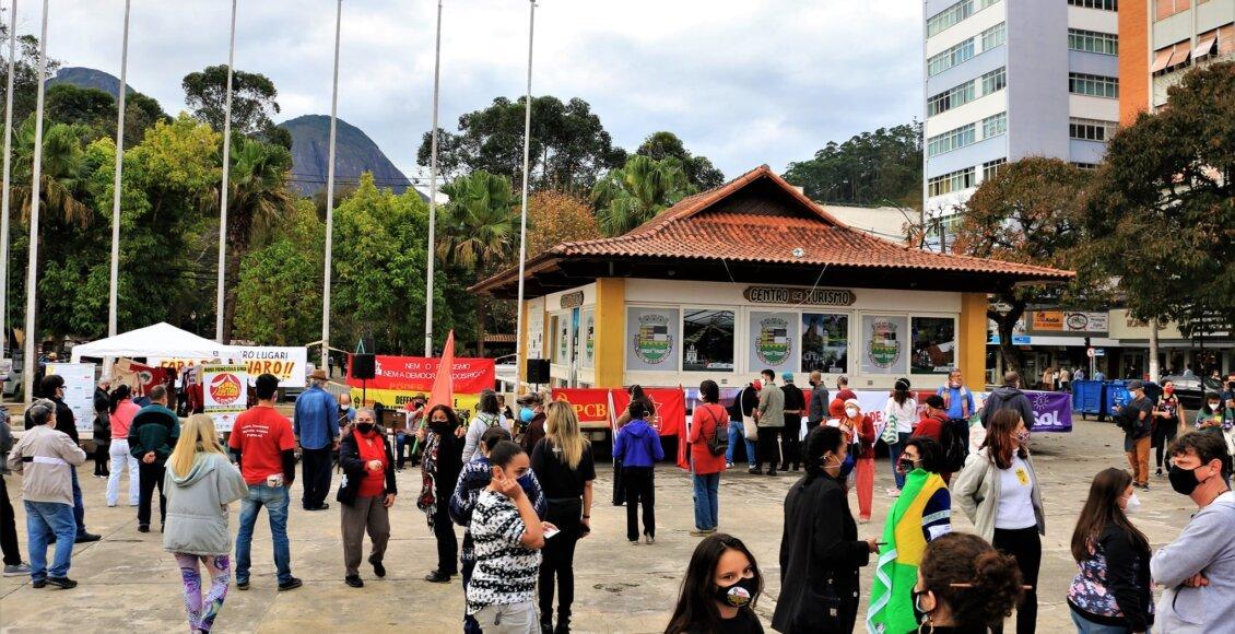 Petrópolis, Friburgo, Cantagalo e São Fidélis registram protesto contra Bolsonaro