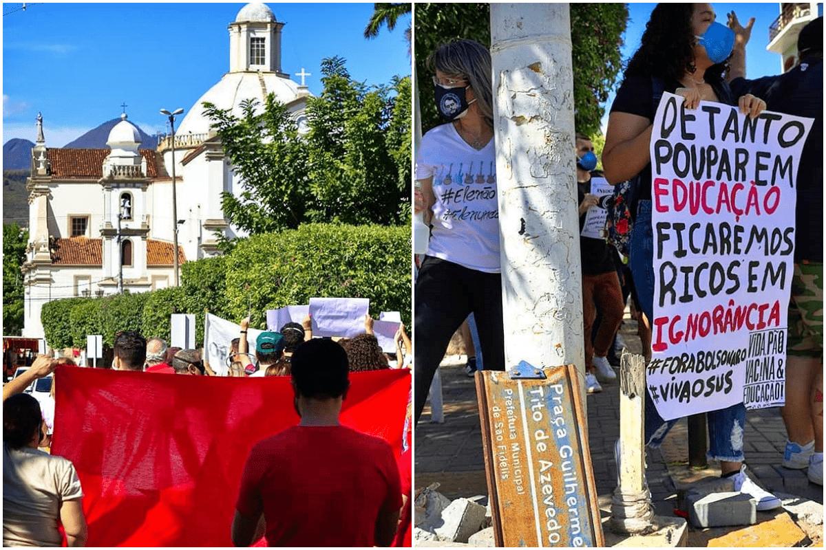 Manifestação contra Bolsonaro em São Fidélis RJ