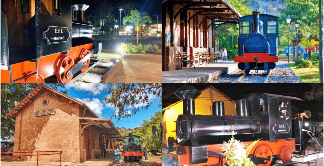 Réplicas de trens embelezam Petrópolis e Macuco; vereador indica para Cantagalo