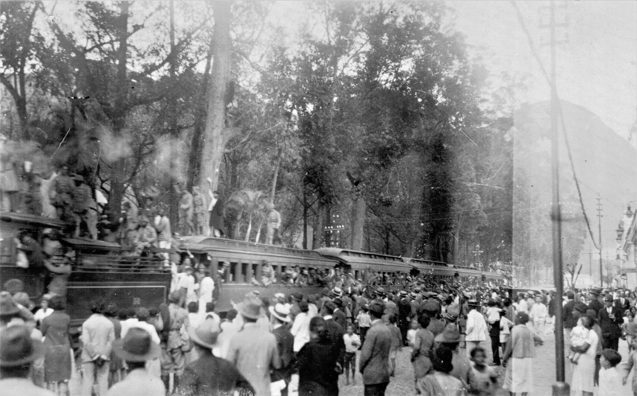 A linha férrea foi fundamental para o deslocamento das tropas. Acervo Fundação D. João VI