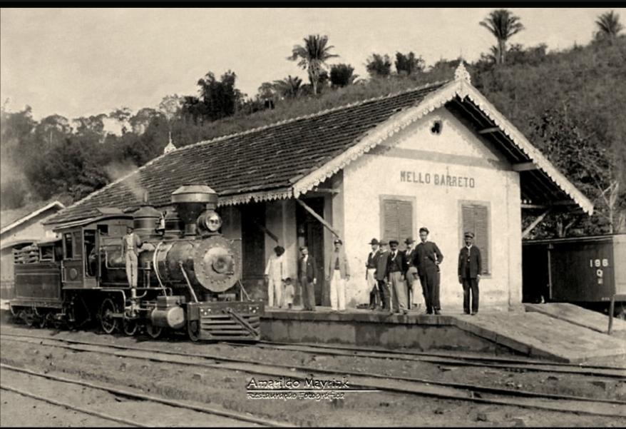 Estação tomada pela coluna Mury em Minas Gerais. Acervo Amarildo Mayrink