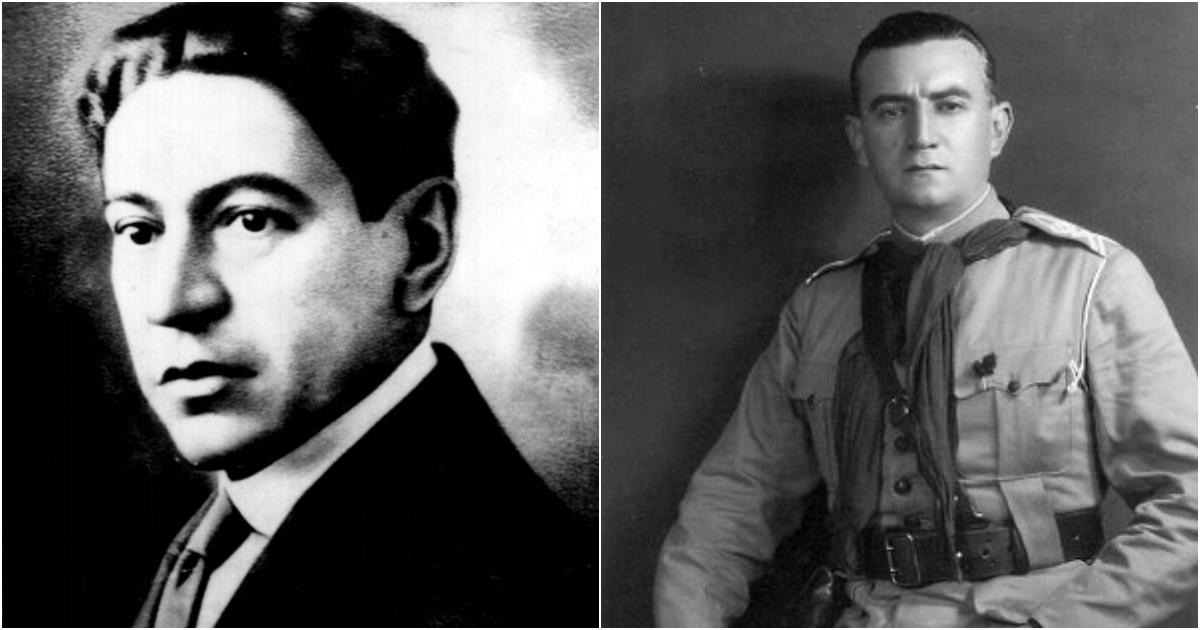 Do lado esquerdo, Galdino do Valle Filho. Do lado direito da imagem, José Galiano das Neves. (Acervo Walther das Neves)