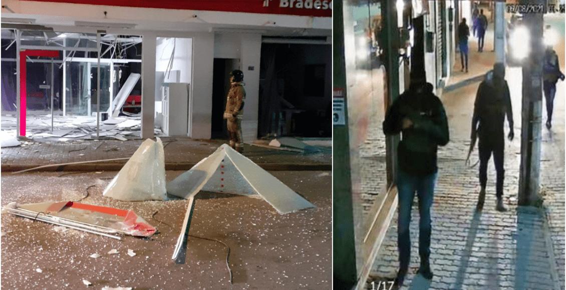 Bandidos armados explodem agência bancária em Cachoeiras de Macacu