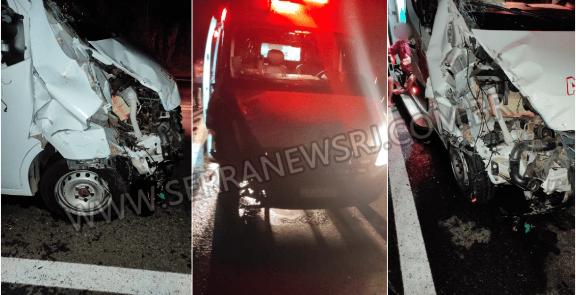 Acidente entre ambulância de Itaocara e motocicleta deixa um morto em Pádua