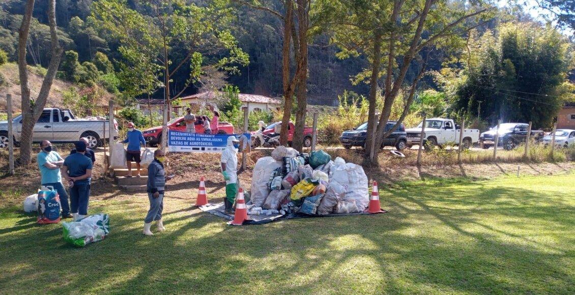 Campanha recolhe embalagens vazias de agrotóxicos no interior do RJ