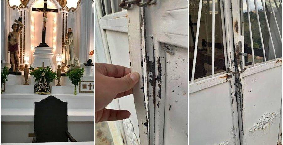 Capela de Santo Antônio de Pádua é vandalizada e tem objetos furtados