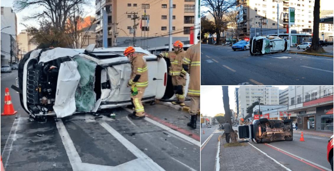 Capotamento acaba com carro e deixa feridos em Teresópolis