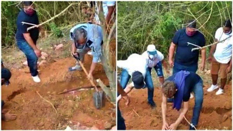 Sem coveiro para realizar serviço, familiares realizam sepultamento em Petrópolis