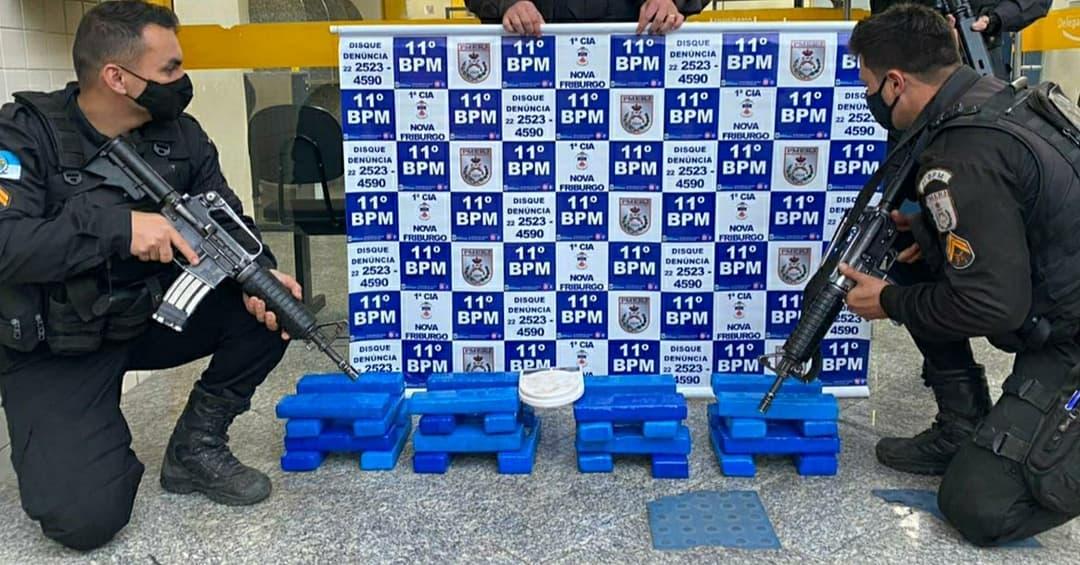 PM encontra 24kg de drogas na maior apreensão do ano em Nova Friburgo