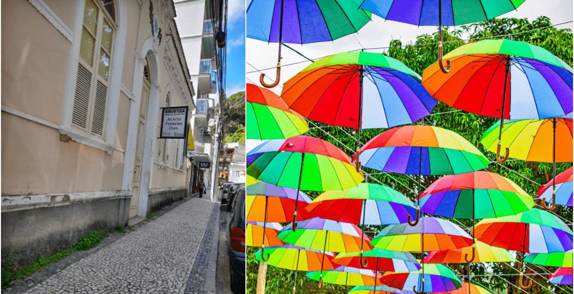 Vereador propõe rua de guarda-chuvas no centro de Cantagalo