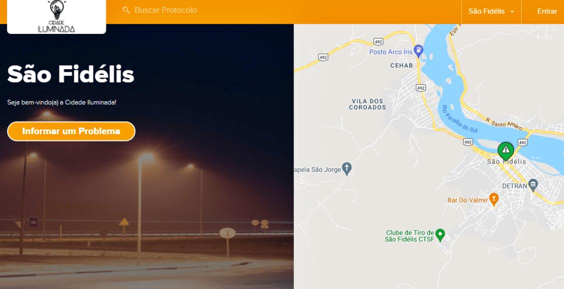São Fidélis cria aplicativo para facilitar manutenção na iluminação pública