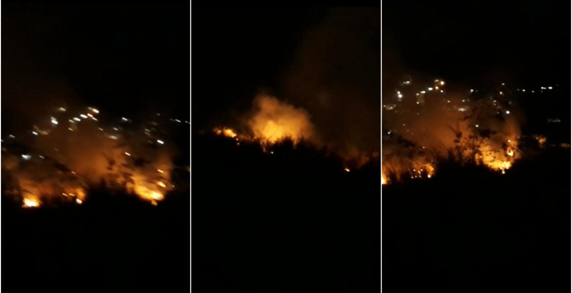 Moradores contém incêndio no Mirante de Santa Rita de Euclidelândia, em Cantagalo