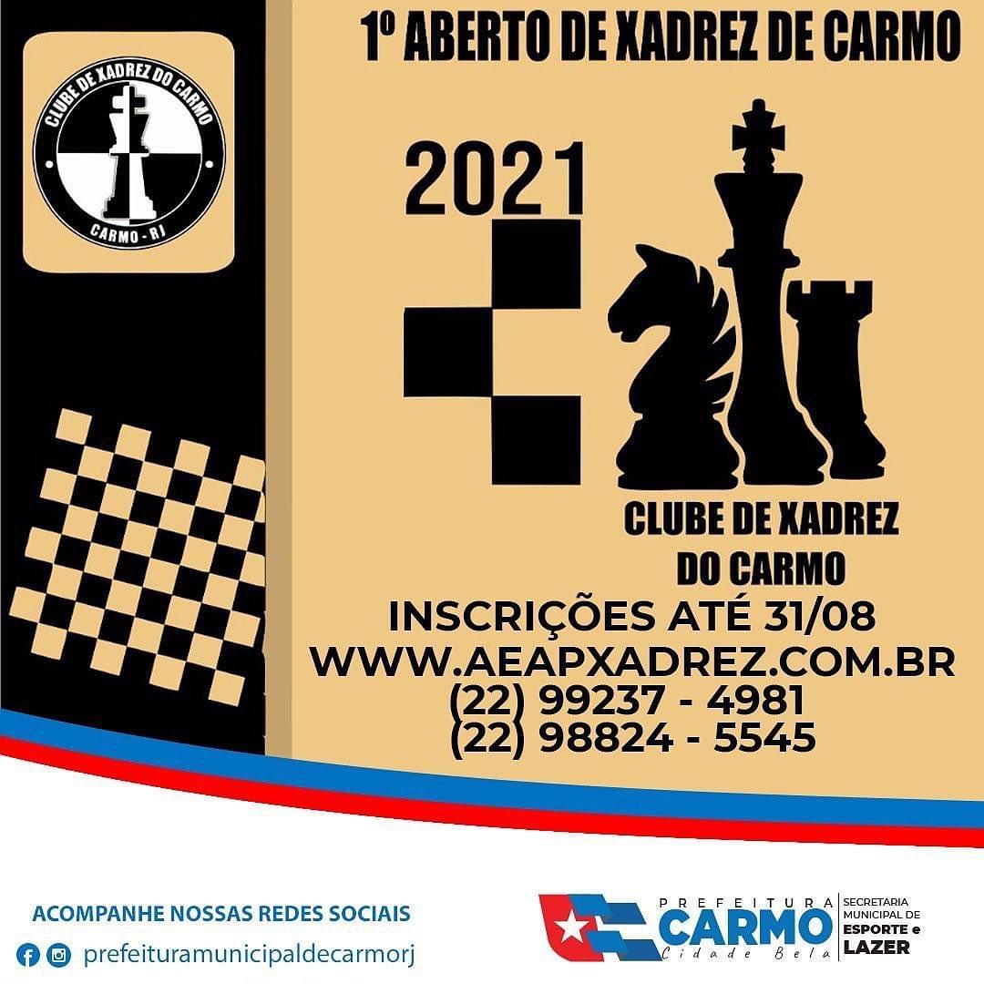 1º Torneio Aberto de Xadrez de Carmo - RJ