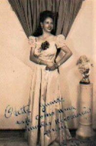 Cartão de uma ex moça-dama. Acervo Wilma Villaça