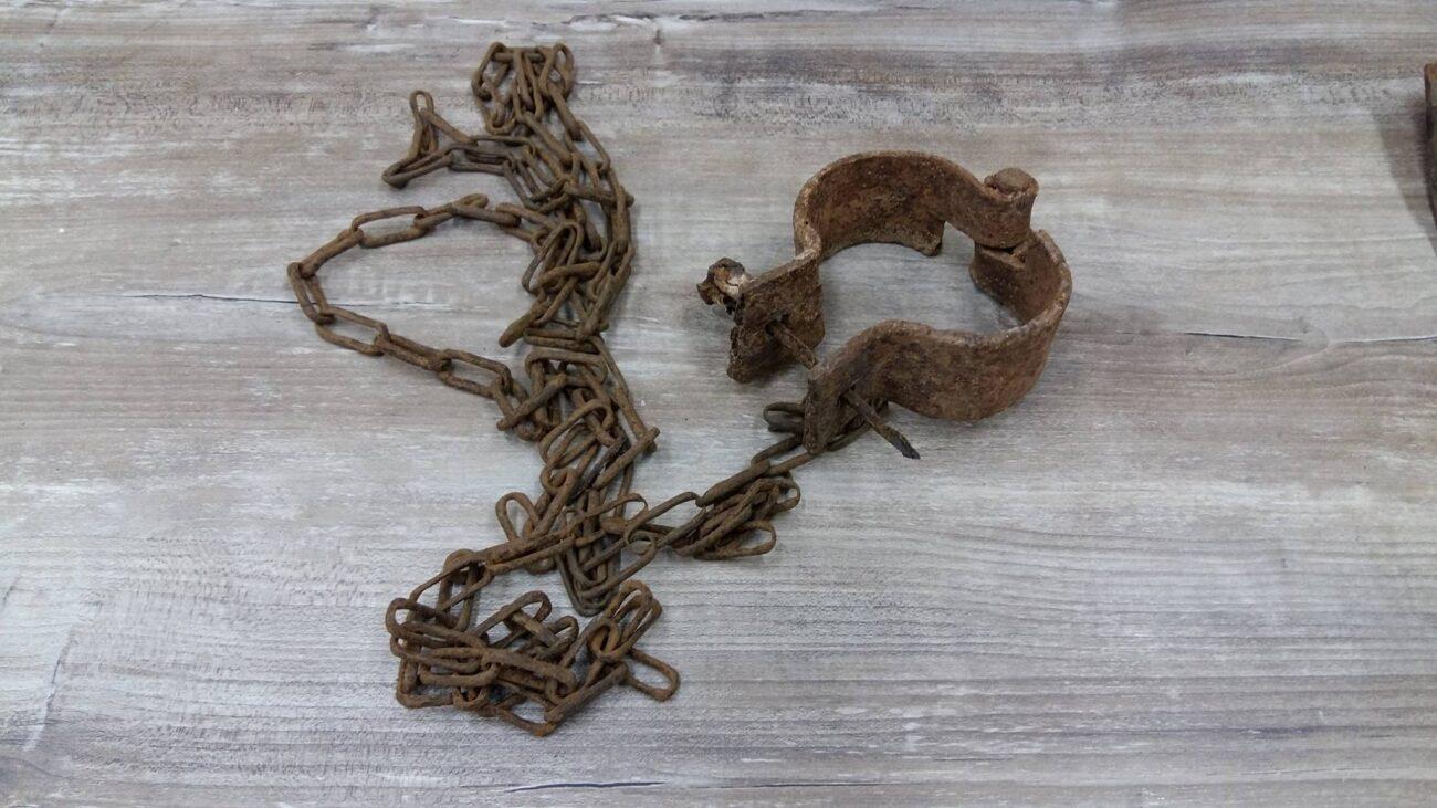 Instrumento de castigo da Fazenda Paredão no Paquequer. Acervo pessoal
