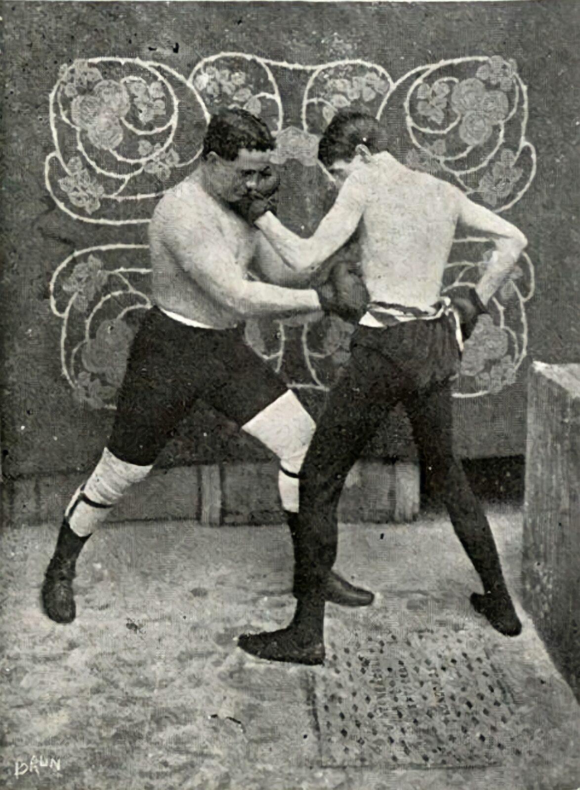 Uma charge na revista Fon Fon de 1909 ironiza o novo esporte. Acervo BN