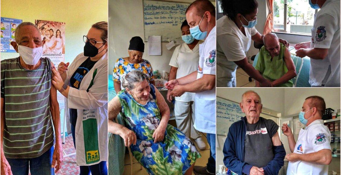 Idosos do asilo de Cantagalo recebem dose reforço contra a Covid-19
